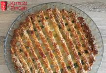 Pastırmalı Sucuklu Peynirli Tart